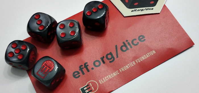 Electronic Frontier Foundation's Passphrase Dice