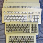 ALPS - Apple M0110, Apple M0110A, Apple Extended Keyboard, & 3x Apple Extended Keyboard II.